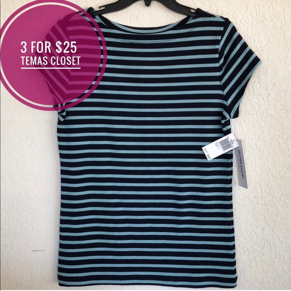 Workshop Republic Clothing Tops - NWT workshop striped women's top large